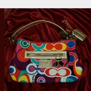 Coach Daisy Poppy Pop C Graffiti Demi Hobo F20039